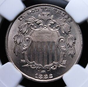 1883 SHIELD NICKEL NGC MS 64 HARD CRISP WHITE LUSTER OVER UNIMPAIRED SURFACES