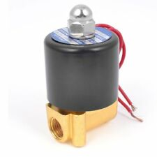 "110VAC 1/4"" Inch Electric Air Gas Water Solenoid Valve Normally Closed"