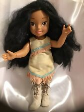 """Articulated Disney Little Pocahontas 15"""" Jointed Body Doll Wearing Playmates Toy"""