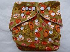 New Cloth Pocket Diaper Microfiber Insert Minky Pumpkins Boy/Girl Eb0116