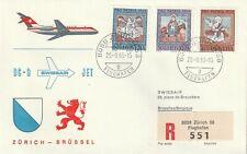1966 Switzerland/Helvetia cover firstflight SwissairDC9 Zurich-Brussel,propatria