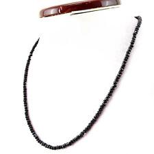 Edelsteinkette Schwarz Spinell 50cm Collier Halskette 2mm fac. Perlen Necklace