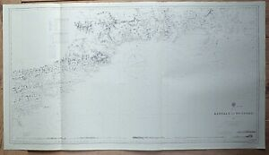 IRELAND KINSALE TO WEXFORD WATERFORD VINTAGE ADMIRALTY CHART MAP