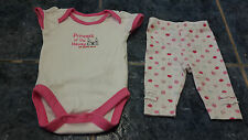 Baby girl short sleeve bodysuit and leggings set size newborn by Mothercare