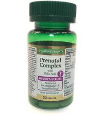 Nature's Bounty Prenatal Complex with Folic Acid 30 Caplets