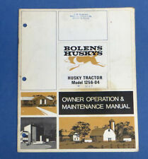 1971 BOLENS HUSKY TRACTOR MODEL 1256-04 OWNERS OPERATORS & MAINTENANCE MANUAL