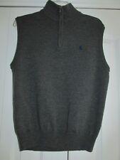 Ralph Lauren Polo Golf Mens Size S Charcoal Gray Merino Wool Quarter Zip Vest