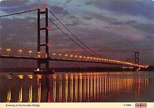 B99890 evening at the humber bridge   uk