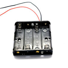 4 x AA Battery Holder Connector Storage Case Box ON-OFF Switch With Lead Wire
