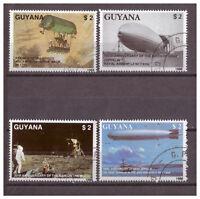 Guyana, 150. Geb Ferdinand Graf von Zeppelin MiNr. 2485 - 2488, 1989 used