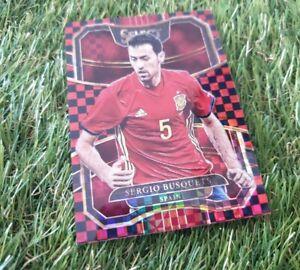 Panini Select Soccer 17/18 Checkerboard Card Sergio Busquets Spanien