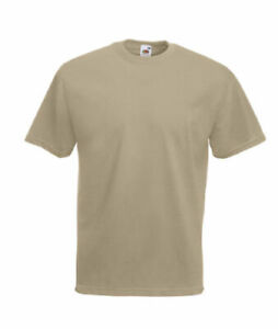 T-SHIRT FRUIT OF THE LOOM,COLONIALE SABBIA,caserma,esercito,softair