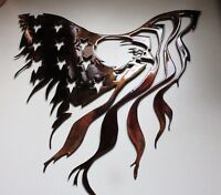 "Eagle and Flag Metal Wall Art 15 1/2"" x 15"""