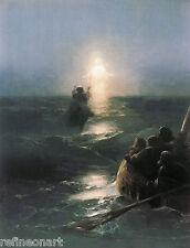 Ivan Aivazovsky Ivan  Christ Walking on the water Handmade Oil Painting repro