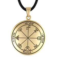 Bronze 3rd Pentacle of Saturn Key of Solomon Protection Necklace Talisman Amulet
