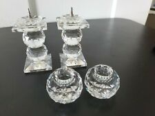 Swarovski Crystal 2 pair candle holders 2-2ball and 1 single ball