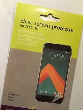 HTC 10 Twin Pack Screen Protector Guards x2 in Clear SSGHTC10STD Brand New pack