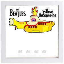 Lego Minifigure Display Case Frame The Beatles Yellow Submarine minifigs