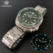 Steeldive SD1970 Green Watch Sapphire,NH35 BGW9 Luminous, Steel, New Version