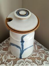 Hand Thrown Studio Pottery Canister Decanter with Lid Signed Unknown Artist