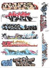 G SCALE GRAFFITI DECALS G25 FROM REAL GRAFFITI PHOTOS