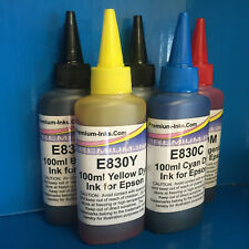 5x100ml Refill Printer Ink Bottles Epson Expression Premium XP 810 820 26 OEM