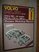 1976-1987 VOLVO 340 360 SERIES SHOP MANUAL SERVICE BOOK REPAIR 86 85 84 83 82 81