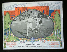 Orig.PRG / Pictorial Review   Olympic Games STOCKHOLM 1912 - RUNNING A !! RARITY
