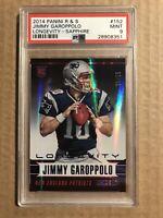 2014 JIMMY GAROPPOLO PANINI ROOKIES AND STARS LONGEVITY SAPPHIRE /25 Psa 9 49ers