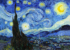 Vincent Van Gogh Starry Night giclee 16.5X11.7 canvas print reproduction poster