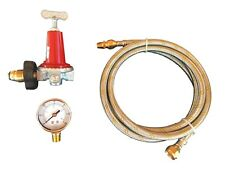 Adjustable 0 to 40psi Propane Regulator Soft Nose POL LP Gas Gauge and 6ft Hose
