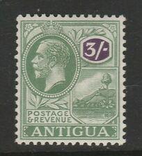 Antigua 1921-29 3/- Green & violet SG 79 Mint.
