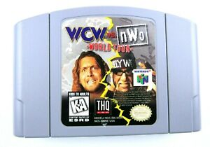 WCW vs. NWO World Tour N64 (Nintendo 64, 1997) Authentic Tested Cartridge Only