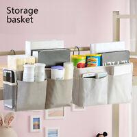 Bedside Bed Pockets Gadget Storage Holder Book Organizer Couch Hanging Bag AU