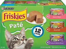 Purina Friskies Wet Cat Food (2 Packs of 12) 5.5 oz. Cans, Pate Variety Pack