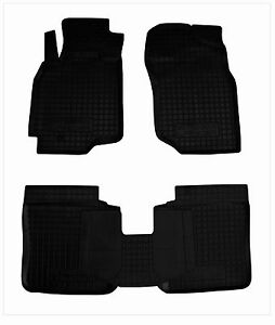 Rubber Carmats All Weather Alfombrillas Goma for Mitsubishi LANCER IX 2003-08