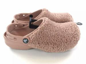 Crocs Classic Fuzz Mania Clog Sandals Men Size 9 Womens Size 11 Slip On Rare