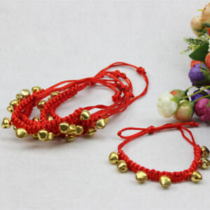 Pet Supplies Collar Puppy Bell  Red Rope Dog Cat Collars with Bells Necklace Pet