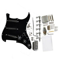 Electric Guitar Prewired Loaded Pickguard Black Tuners Knob Bridge For Fender