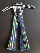 new 2 in 1 : black&white striped shirt with  jean for 1/6(11.5inch) BJD Doll