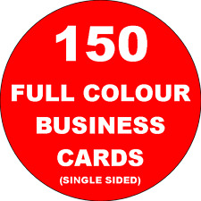 150 Full Colour Business Cards Printed on 350gsm Card