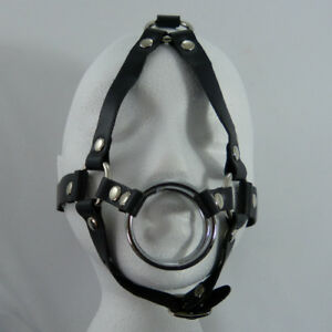 Black  DOUBLE RING HARNESS GAG escapology GR-08-BLACK, FREE UK DELIVERY