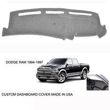 New Dodge Ram 1500 2500 Truck Custom Gray Silver Dashboard Dash Cover 1994-1997