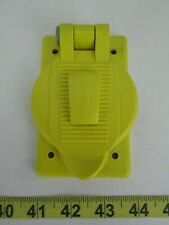 New Hubbell Plate & Cover Yellow for Wet & Damp Locations P-5255 Formax 801134