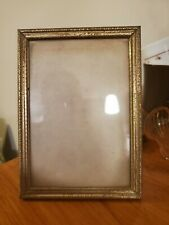 Ornate Very Old Vintage Metal Gold 5x7 Picture Frame