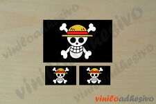 PEGATINA STICKER VINILO One Piece bandera pirata autocollant aufkleber adesivi