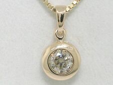 Diamant Brillant Anhänger 585 Gelbgold 14Kt Gold 0,41ct Solitär gW P