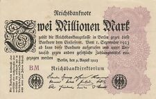 * Ro. 103e - 2 millones de Mark-Deutsches Reich - 1923-Fz: bm *