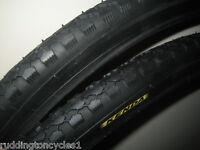 2 x Kenda 26 x 1 3/8 Bike / Cycle Road Tyres KT07 with kenda Schrader tubes