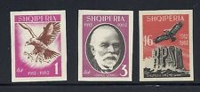 ALBANIA 1962 50th ANNIVERSARY of INDEPENDENCE (Sc 644-46 IMPERF set) VF MH